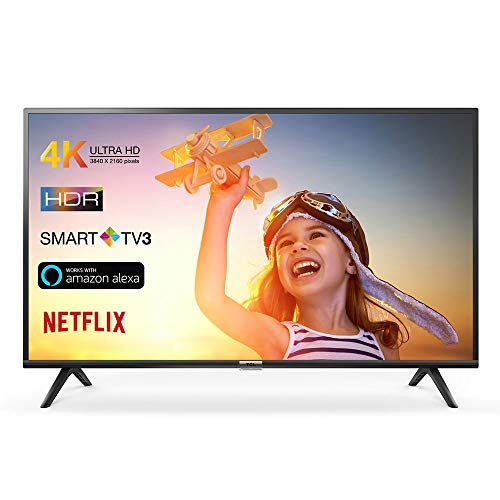 TCL 43DP602 Fernseher 108 cm (43 Zoll) Smart TV (4K, HDR, Triple Tuner, Alexa kompatibel, Micro Dimming, T-Cast)