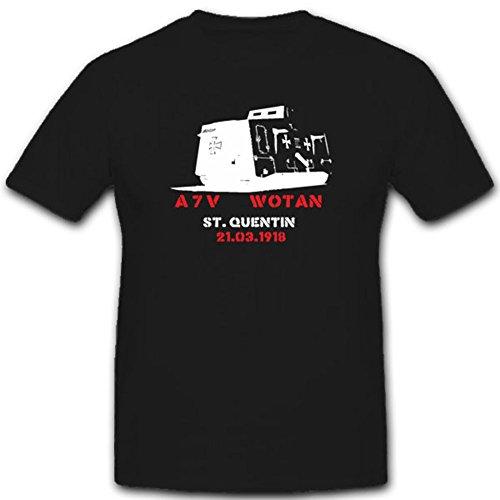 WK Panzerung Militär Heer Stpzkrw A7v Dmg Fronteinsatz Überlandwagen Abteilung Verkehrswesen T Shirt #1846, Farbe:Schwarz, Größe:Herren 5XL
