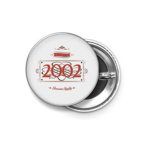 Shopsmeade® Since 2002 (red&Black) Round Pin Button Badge