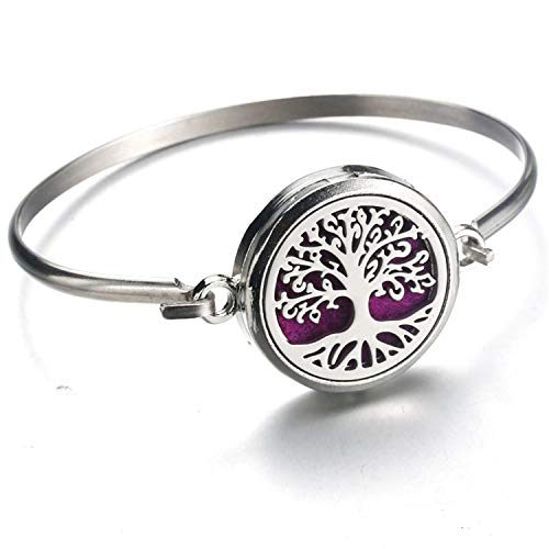 Aromatherapy Fashion Jewelry Systematic 316l Stainless Essential Oils Aromatherapy Locket Diffuser Bangle Bracelet Gift