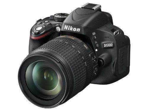 Nikon D5100 - Cámara réflex digital de 16 Mp (pantalla 3', estabilizador, vídeo Full HD), color...