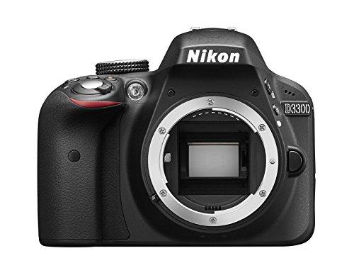 Nikon D3300 Appareil photo numérique Reflex 24,2 Mpix Kit Objectif AF-P 18-55 mm VR + 55-200 mm VR II Noir