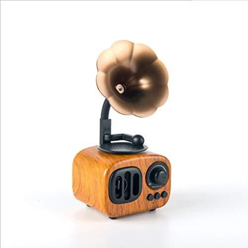 WLNKJ 2019 neues Geschenk kreative Retro-Mini-Stereoanlage, Indoor Home Portable Bluetooth-Lautsprecher,a (Neue Stereoanlagen)