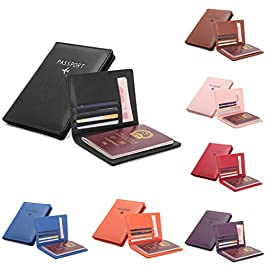 d7717cfb28 Borsa passaporto per uomo e donna, portafoglio quadrato in pelle tinta  unita, ...