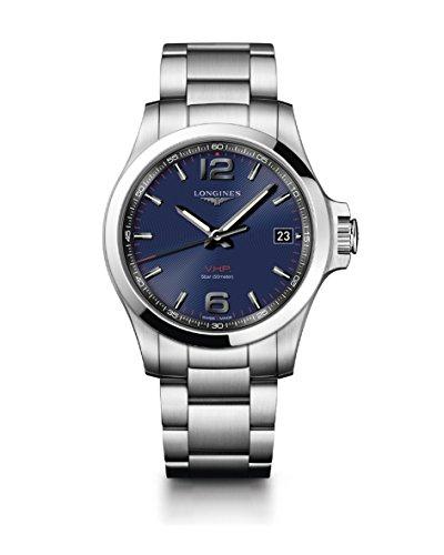 Orologio Longines CONQUEST V.H.P. L37164966 Al quarzo (batteria) Acciaio Quandrante Blu Cinturino Acciaio