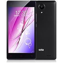 Moviles Libres Baratos, smartphone Libres 4G 5.0 pulgadas IPS de Pantalla  Dual SIM, 16GB ROM 2GB RAM 2150mAh, 8MP Cámara Android 5.1 MTK6735 Quad Core Xtreme Sound GPS, WIFI, Bluetooth 4.0 - Negro