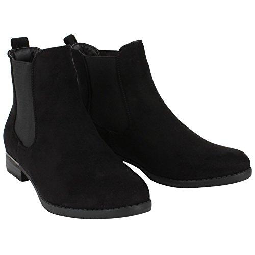 Japado , bottes chelsea femme Noir (Schwarz Schwarz)