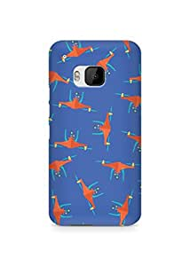 Amez designer printed 3d premium high quality back case cover for HTC One M9 (Drone Pattern)