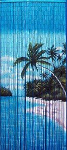 "Bambustürvorhang Bambusvorhang, \""Seychellen\"" ca. 90x200cm, 90 Stränge"