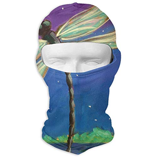 (Vidmkeo Dragonfly Art at Moon Night Winter Tactical Full Face Mask Windproof Head Hood for Men and Women New16)