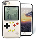 F-FISH Hülle für iPhone 6 / 6s / 7/8 Plus ABS TPU Hülle Case Schutzhülle für Das Klassische Spiel [Gameboy] [Tetris] (iPhone 6/7/8, golden)