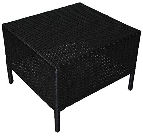 KMH®, Beistelltisch Holme aus schwarzem Polyrattan (#106067) -
