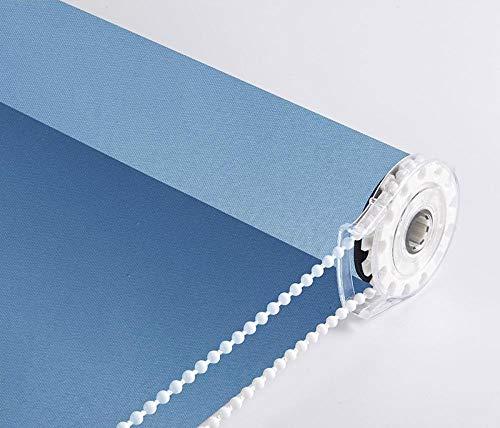 dusg Estores Collection Estor Enrollable Liso Persianas Perforar Tirar Perlas Todos los Tonos Azul Claro 100 × 180CM