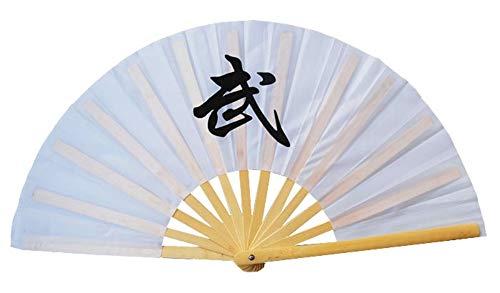 Kostüm Bambus Tanz - XIAOHAIZI Handfächer,Weißer Chinesischer Faltender Kung Fu Fan Wushu Fan Bambus Fan Plastik Tai Chi Tanz Praxis Training Leistungs Fan