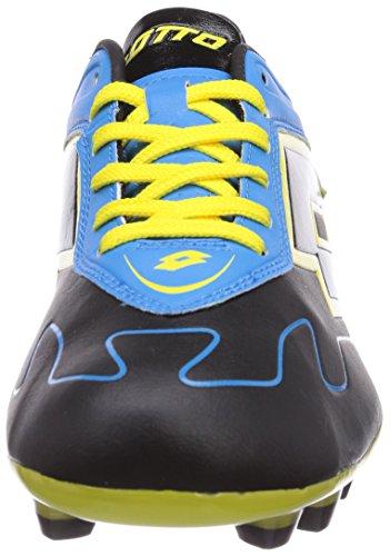 Lotto Sport  LOTTO ZH GRAV VI 300 TX, Chaussures de foot pour homme Multicolore - Mehrfarbig (BLACK/FL BLUE)