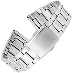 WINOMO Silver Stainless Steel Watch Band Strap 18-22mm - 1 Piece