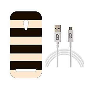 Designer Hard Back Case for Asus Zenfone 5 with 1.5m Micro USB Cable