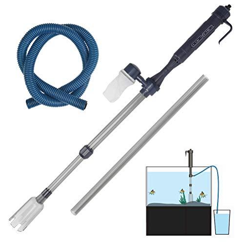 BUYGOO Aquarium Reiniger Elektrischer Fischbehälter Staubsauger - Aquarium Wasserwechsler, Automatische Aquarienfilter Aquarienstaubsauger Wasseraustauschgeräte für Aquarien Wasserwechsel Pumpe