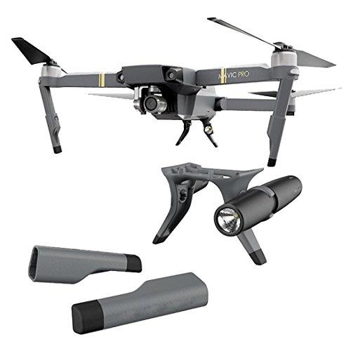 Preisvergleich Produktbild NEU Extended Landing Gear Bein Drone Zubehör, Support Protector Verlängerung LED Scheinwerfer Set Ersatz Fit Für Mavic Pro Drone Zubehör , zahuihuiM