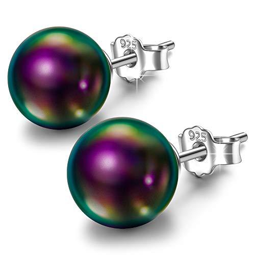 Susan Y Perlenohrringe Muttertagsgeschenke für Mama Frauen Mädchen Silber Ohrringe feiner modeschmuck Geburtstagsgeschenke für Damen ihr Schwester Freundin Jubiläumsgeschenke für ()