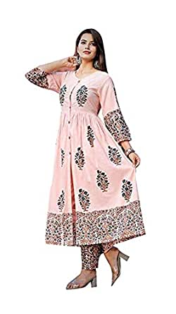 AESTHETIC PARADIGM,S Women's cotton kurti with palazzo pant kurti palazzo set for girls palzzo suits for women's LATEST palazzo set for women's kURTI.... (S)