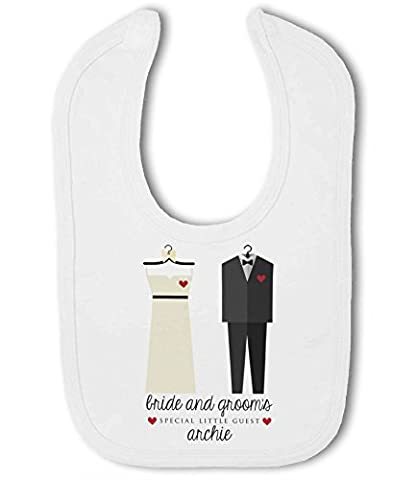 Bride & Grooms Special Little Wedding Guest with Personalised Name - Baby Bib