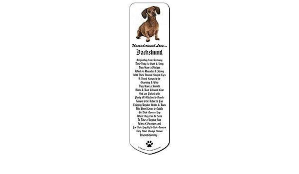 Dachshund Dog /'Unconditional Love/' Bookmark AD-DU36uBM Book Mark Christmas Sto