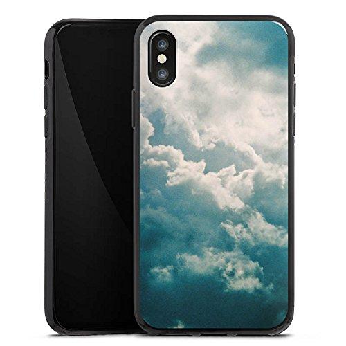 Apple iPhone X Silikon Hülle Case Schutzhülle Wolken Himmel Natur Silikon Case schwarz
