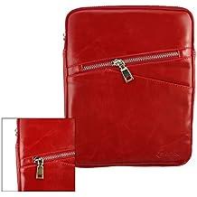 Emartbuy® Red Crossbody Mensajero Caja Case Cover Bag Viajes in Premium PU Cuero con Acolchado Interior y Correa Para Hombro Conveniente Para Teclast X98 Air 3G 9.7 Inch Tablet