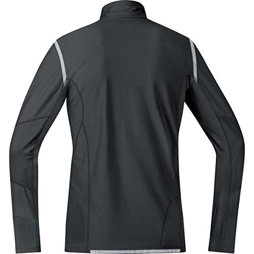 GORE RUNNING WEAR, Maglia Corsa Uomo, Termica, Maniche lunghe, GORE Selected Fabrics, MYTHOS 2.0 Thermo, SMYTTM Nero