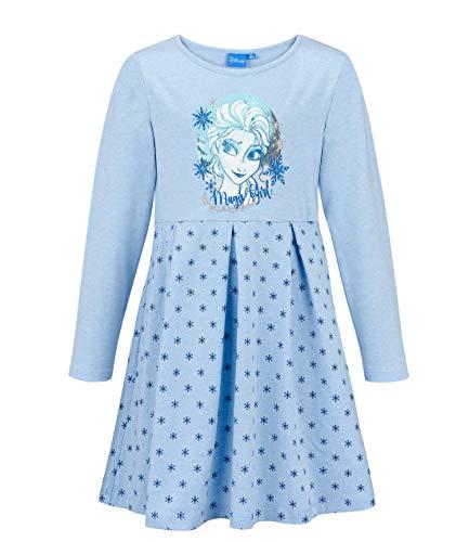 Disney La reine des neiges Mädchen Kleid 2207, Blau Bleu, 6 Jahre
