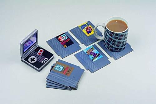 Nintendo NES NES-Untersetzer, Hartplatte/Papier, Mehrfarbig, 9x 1x 10cm