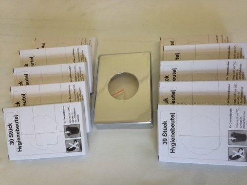 1 x Hygienebeutelspender Chrom + 10x30 Stück Hygienebeutel für Damenbinden
