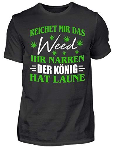 Hanf Shirt/Kiffer/Gras/Cannabis/Marihuana/Weed/Pulli/Pullover/Hoody/T-Shirt/Bong/Rauchen/Dope/Ganja/Amsterdam - Herren Shirt -M-Schwarz (Weed Bong Für Das Rauchen Von Marihuana)
