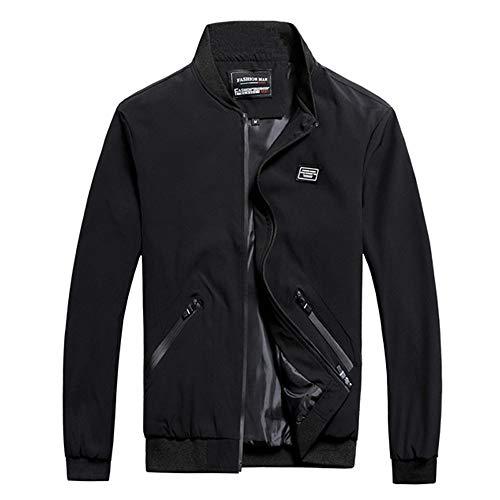 MEIbax Herren Übergangsjacke Stehkragen Jacke Mantel Reißverschluss Outwear Herrenjacke Windbreaker Bomberjacke Steppjacke