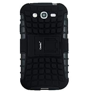 Casotec Rugged Armor Hybrid Kickstand Case Cover w/ free Screen Protector for Samsung Galaxy Grand i9082 - Black