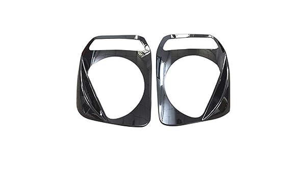 HAODEE 1 Paio Auto Faro Paralume Scudo Protettivo Decorativo deflettore Faro Paralume Assetto per Suzuki Jimny 2007-2015 Nero