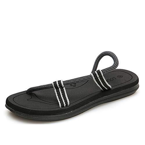 TYLPK Sommer lässig Wilde Sport Sandalen Herren und Damen Strand Schuhe Sandalen schwarz D 40EUR