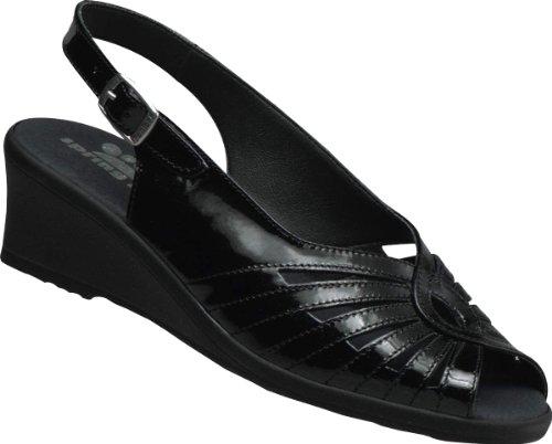 Spring Step Gail Femmes Cuir Sandales Black