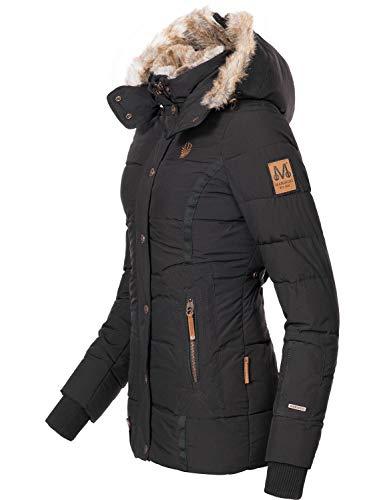 Marikoo Damen Winterjacke Steppjacke Nekoo Schwarz Gr. XXL