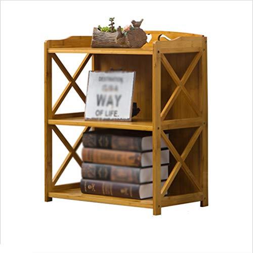 ZALIANG Zhiwujia Einfache Bücherregal Regale Massivholzboden Kinder Bambus Lagerung Tisch einfache Moderne Student Bücherregal Kreuz Design solide und solide (größe : 69cm)