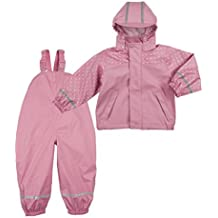 Bornino Basics Regenanzug rosa/Matschhose/Set aus Regenjacke und Regenhose für Mädchen