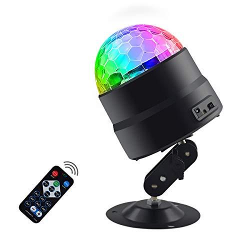 beleuchtet, ONEVER Mini-LED-Bühnenlicht-Ton aktivierte Partei-Lichter für KTV Weihnachtshochzeitsdekorationen Karaoke-Tanzlicht ()