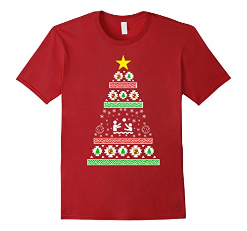 Water Polo gifts idea ugly christmas sweater look Herren, Größe 2XL Cranberry