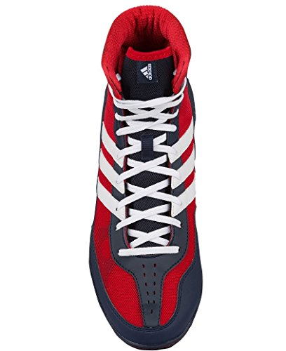 Adidas Mat Wizard.3 Wrestling Chaussures, Collegiate Bourgogne / noir / or, 4 M Us rot weiß marineblau