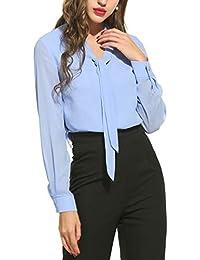 703967b1218f Suchergebnis auf Amazon.de für: damen bluse mit schluppe blau ...