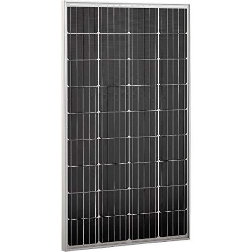 ECTIVE 12V 120W Solarmodul Monokristallin hagelfest Solarpanel für Wohnwagen Camping und Garten in 6 Varianten 50-160 Watt 120w Solarpanel
