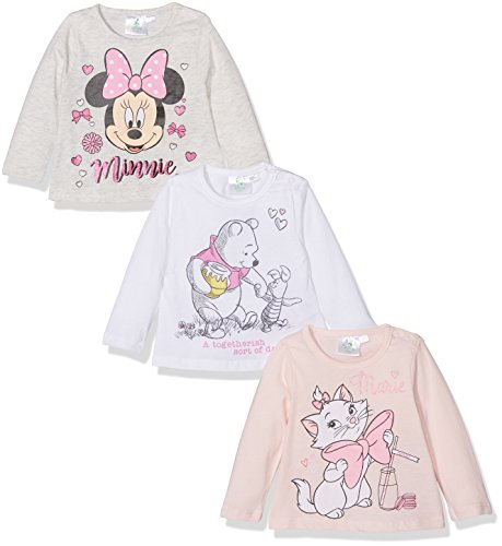 FABTASTICS Baby - Mädchen T-Shirt Millie 160682, Gr. 86 (Herstellergröße: 18M/86CM), Rosa (Pink 001) (Disney Baby-mädchen)