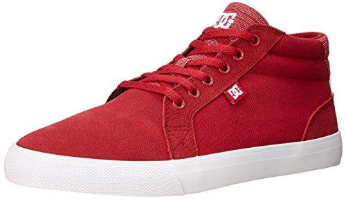 DC Women's Council Mid SE Skate Shoe, Red, 10 B US