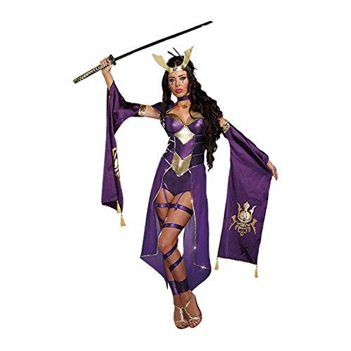 Sexy Samurai Erwachsene Kostüme (Dreamgirl 9855Mortal Samurai weiblich Kostüm)